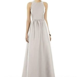 Alfred Sung D707 Bridesmaid Dress Oyster Size 2